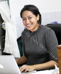 Lisa Faktaufon in her office at AAPI Design at Nasese. Picture: ADI BULI NACOLA