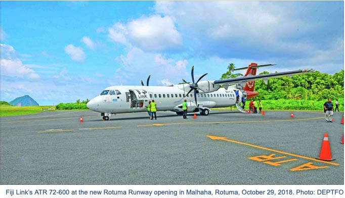 ATR aircraft at Rotuma