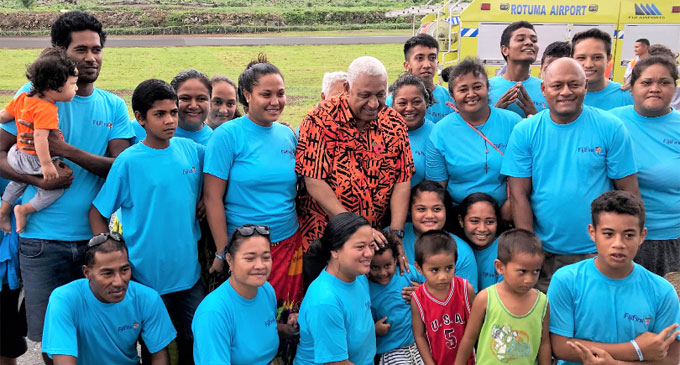 Bainimarama with Rotumans