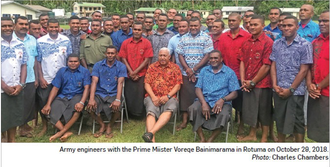Bainimarama & Army Engineers