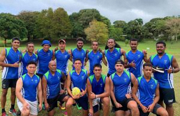 Men's Tahi touch rugby team